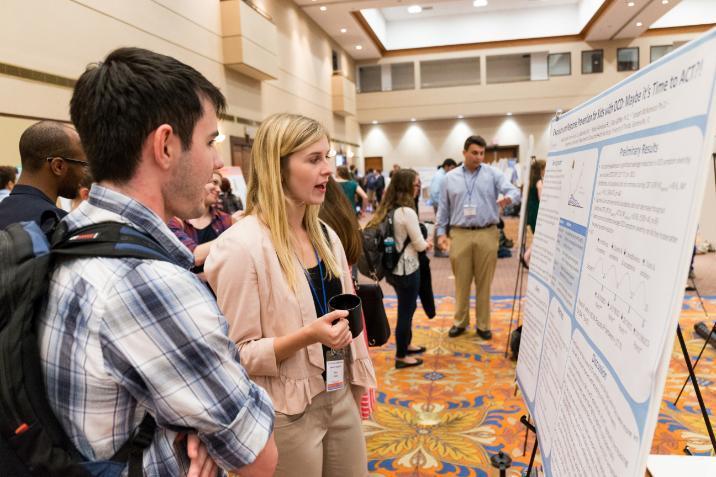 Undergraduate Research Symposium, poster presentation student